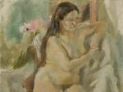 "Жюль Паскин (Jules Pascin) ""Eliane with Long Hair"""