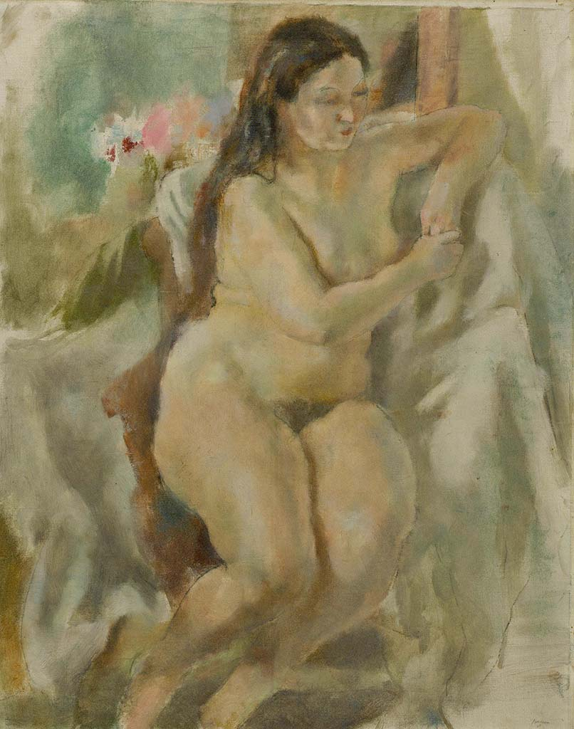 "Жюль Паскин (Jules Pascin) ""Eliane with Long Hair"""