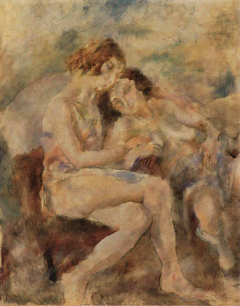 "Жюль Паскин (Jules Pascin) ""Zinah and Renée"""