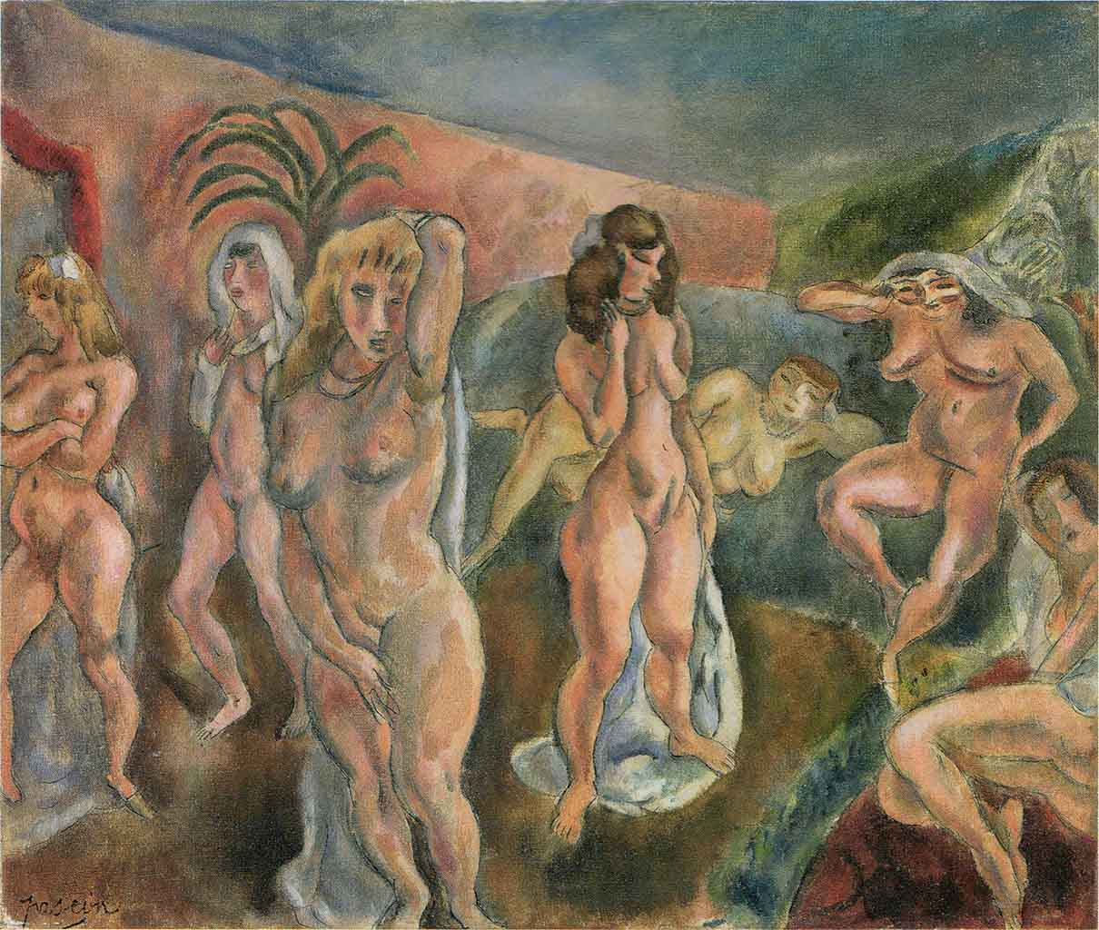 "Жюль Паскин (Jules Pascin) ""Composition of Nudes"""