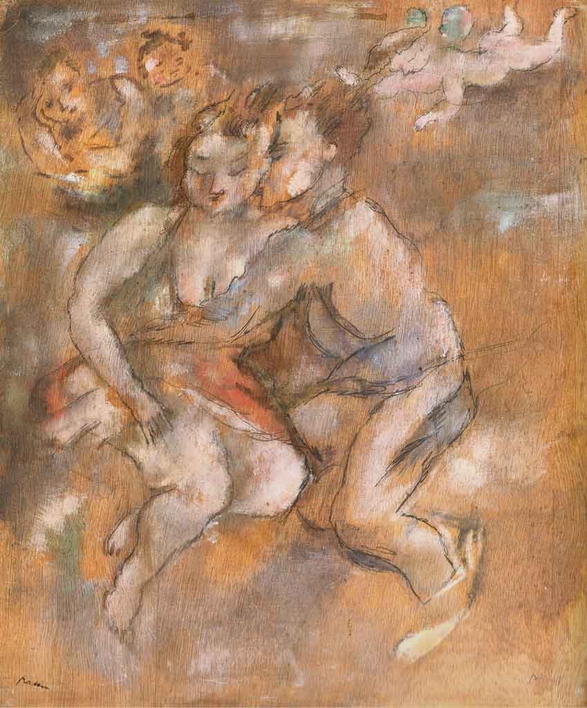"Жюль Паскин (Jules Pascin) ""Lovers"""
