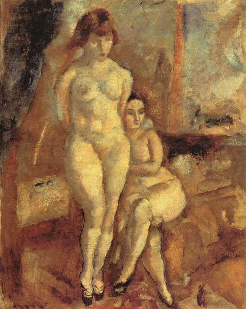 "Жюль Паскин (Jules Pascin) ""Two Models"""