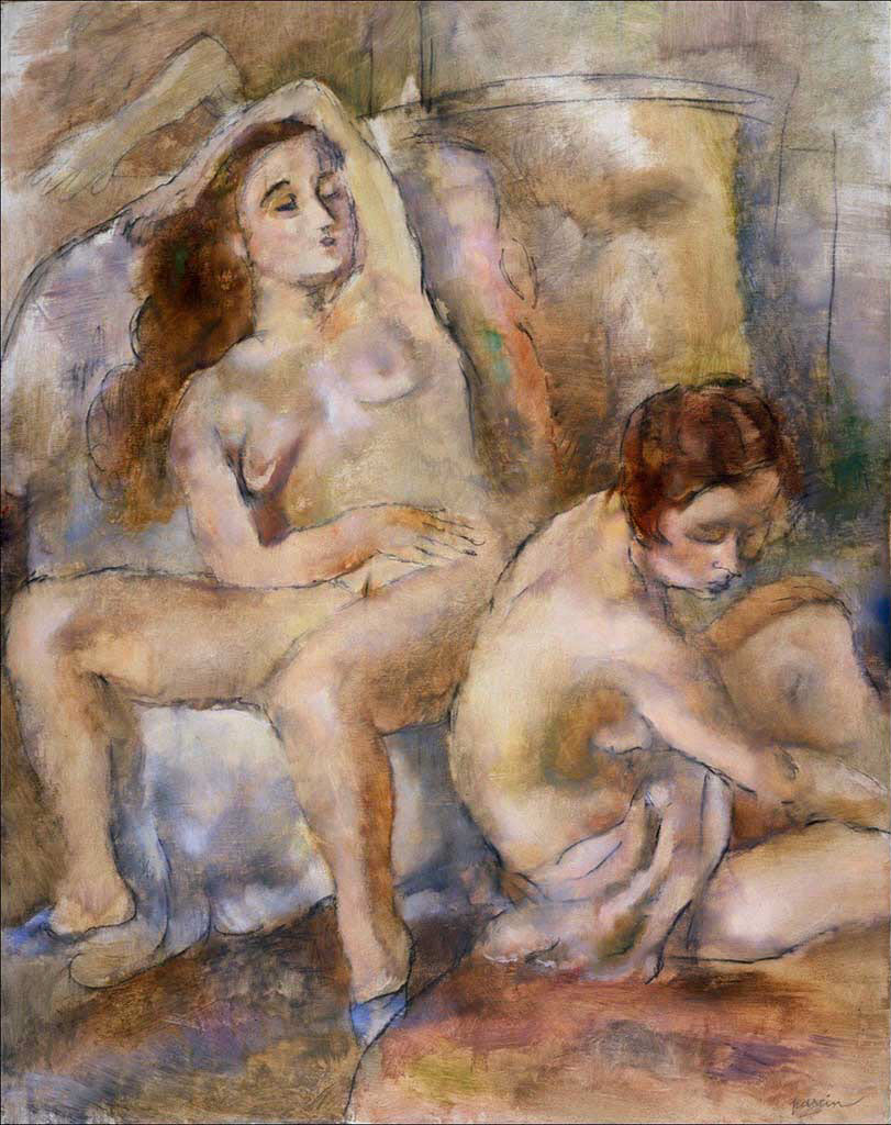 "Жюль Паскин (Jules Pascin) ""Two Young Girls in Repose"""