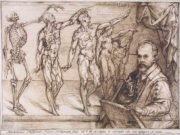 "Бартоломео Пассаротти (Bartolomeo Passerotti) ""Self-portrait lecturing the theory of anatomical drawing"""
