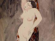 """Франсис Пикабиа (Francis Picabia) """"Stehender weiblicher Akt in ein Tuch gehüllt"""""""