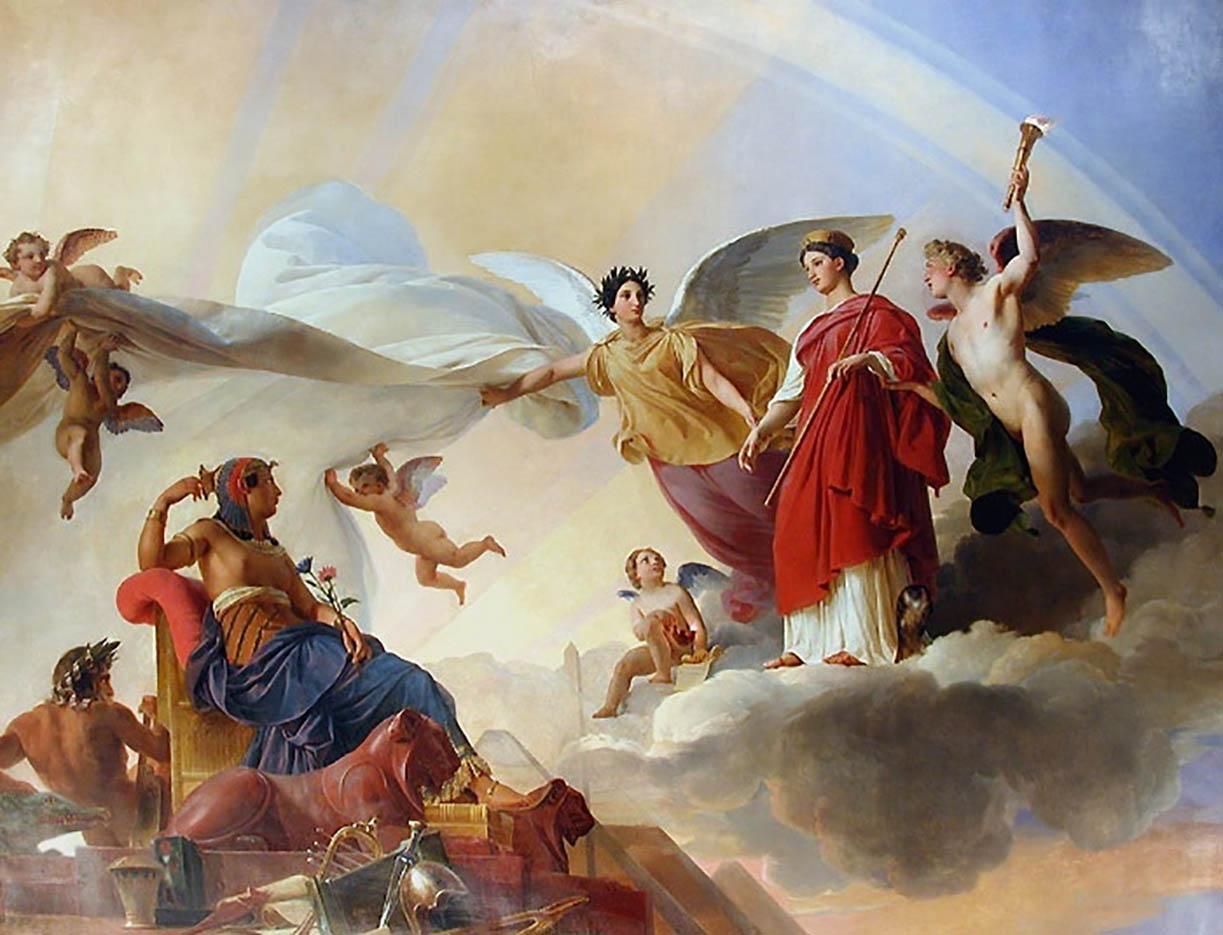 "Франсуа Эдуар Пико (François-Edouard Picot) ""Study and Genius unveil ancient Egypt to Greece"""