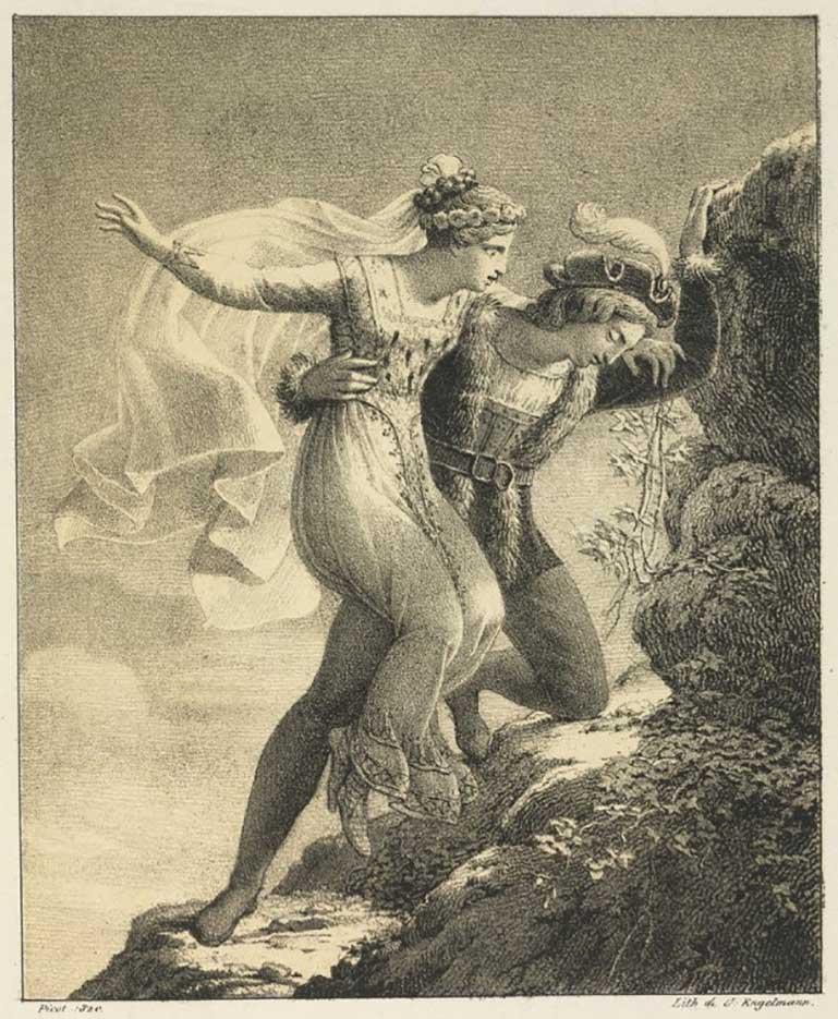 """Франсуа Эдуар Пико (François-Edouard Picot) """"Les deux amants"""""""