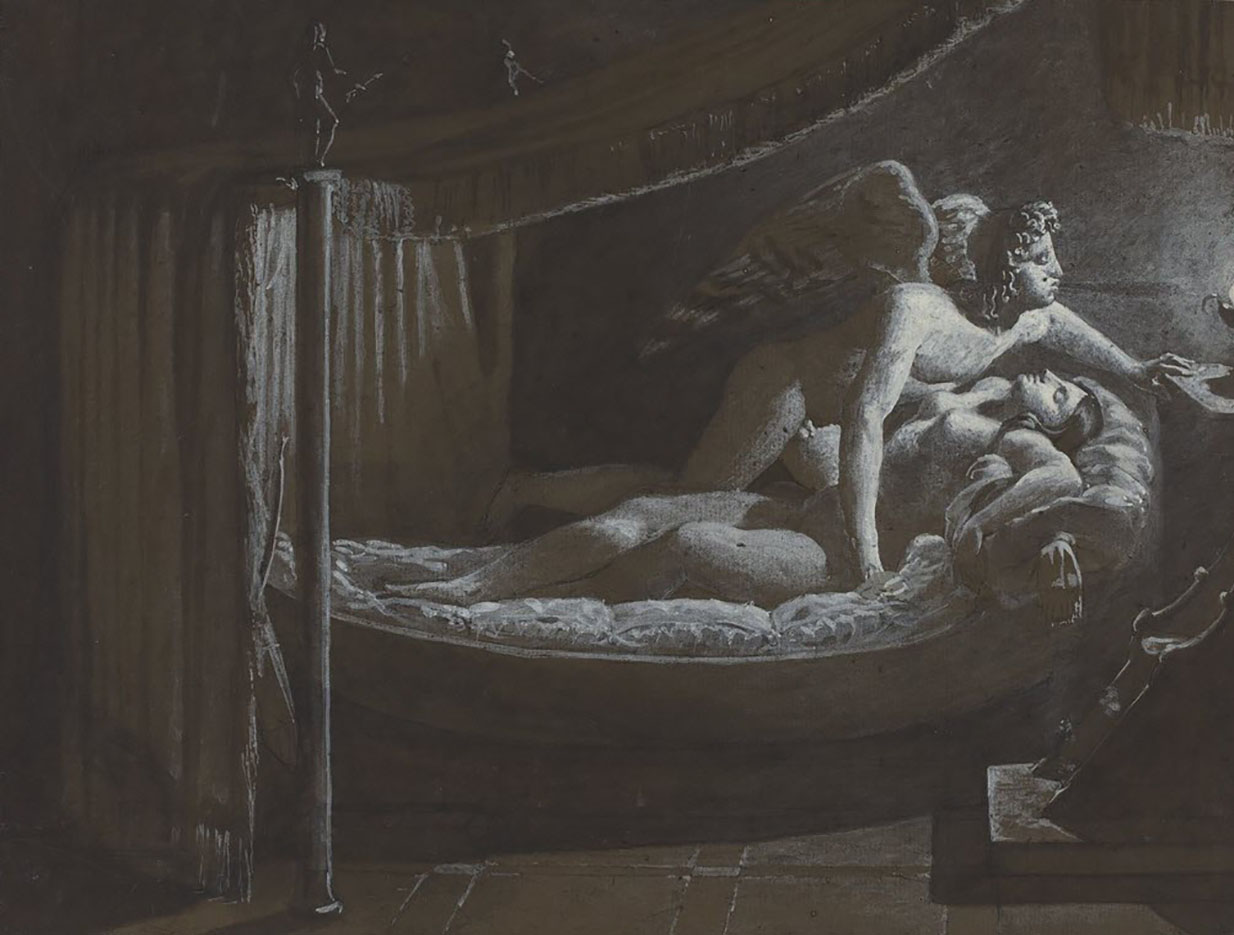 "Франсуа Эдуар Пико (François-Edouard Picot) ""Cupid with Psyche Extinguishing the Lamp"""