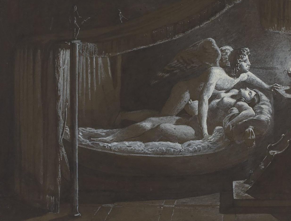 "Франсуа Эдуар Пико (François-Edouard Picot) ""Cupid with Psyche Extinguishing the Lamp"""