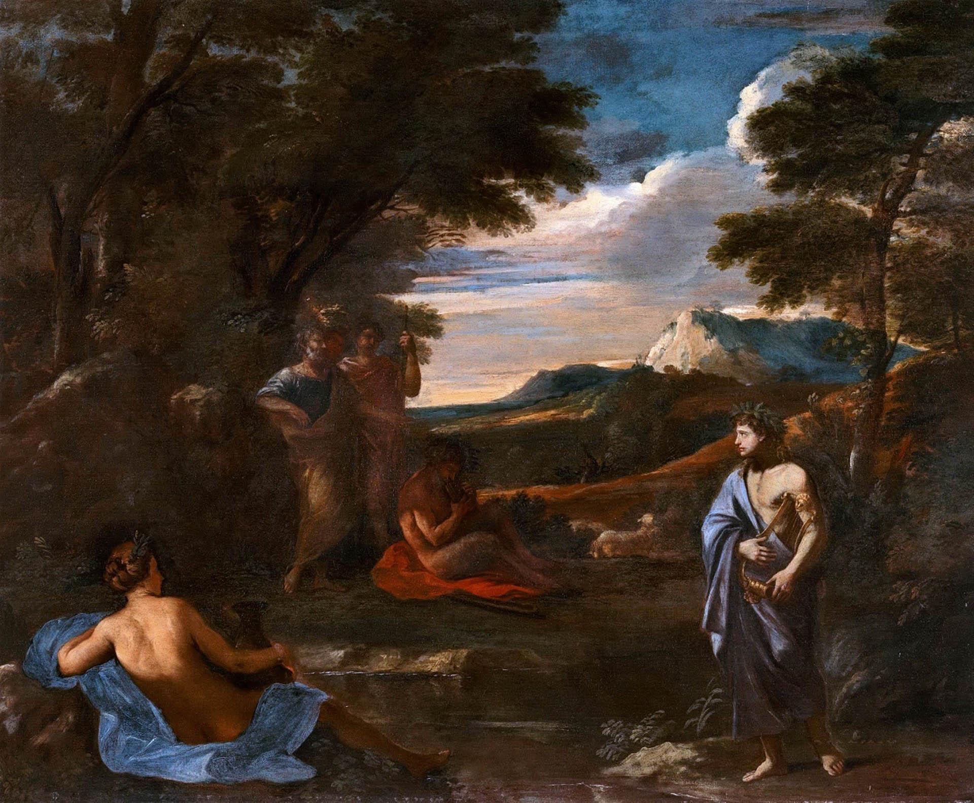 Никола Пуссен (Nicolas Poussin), Пейзаж с Аполлоном и Марсием
