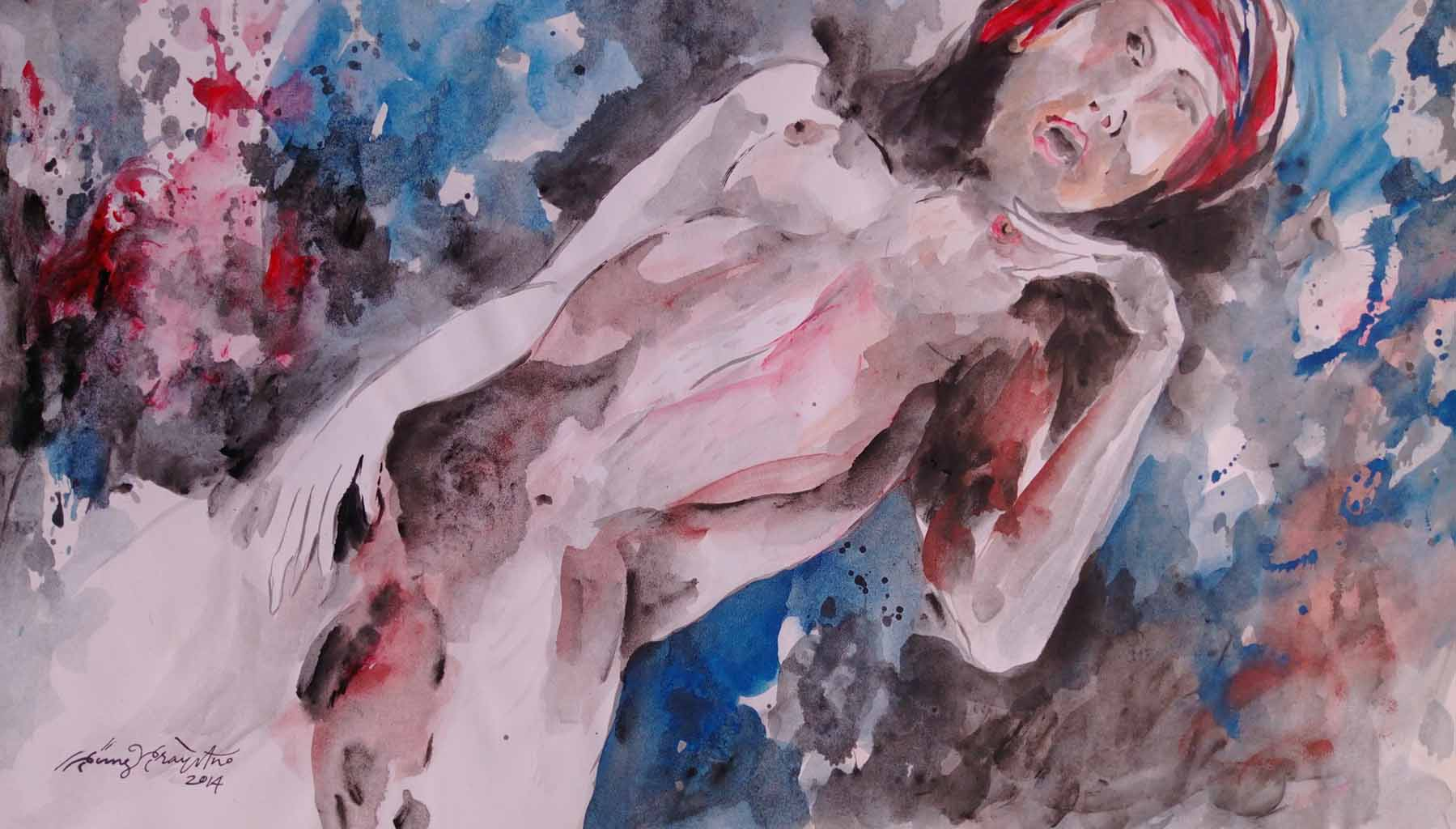"""Пупунг Прайтно (Pupung Prayitno) """"Reclyning Nude #2"""""""