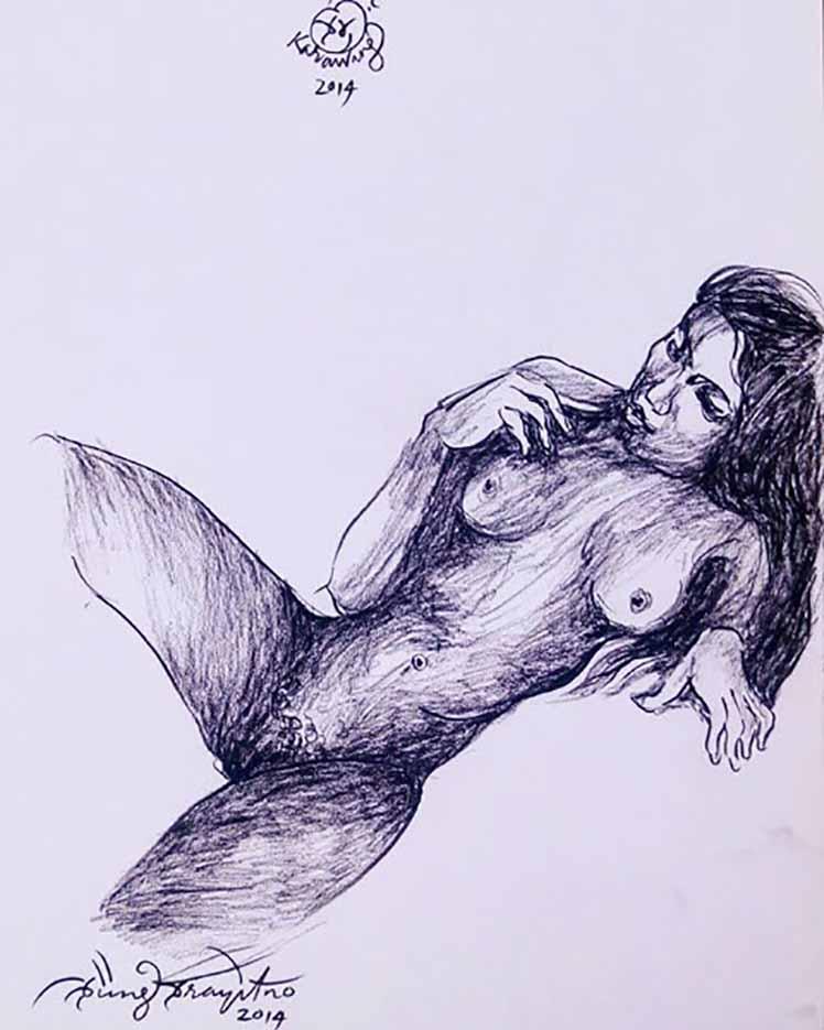 """Пупунг Прайтно (Pupung Prayitno) """"Reclyning Nude"""""""
