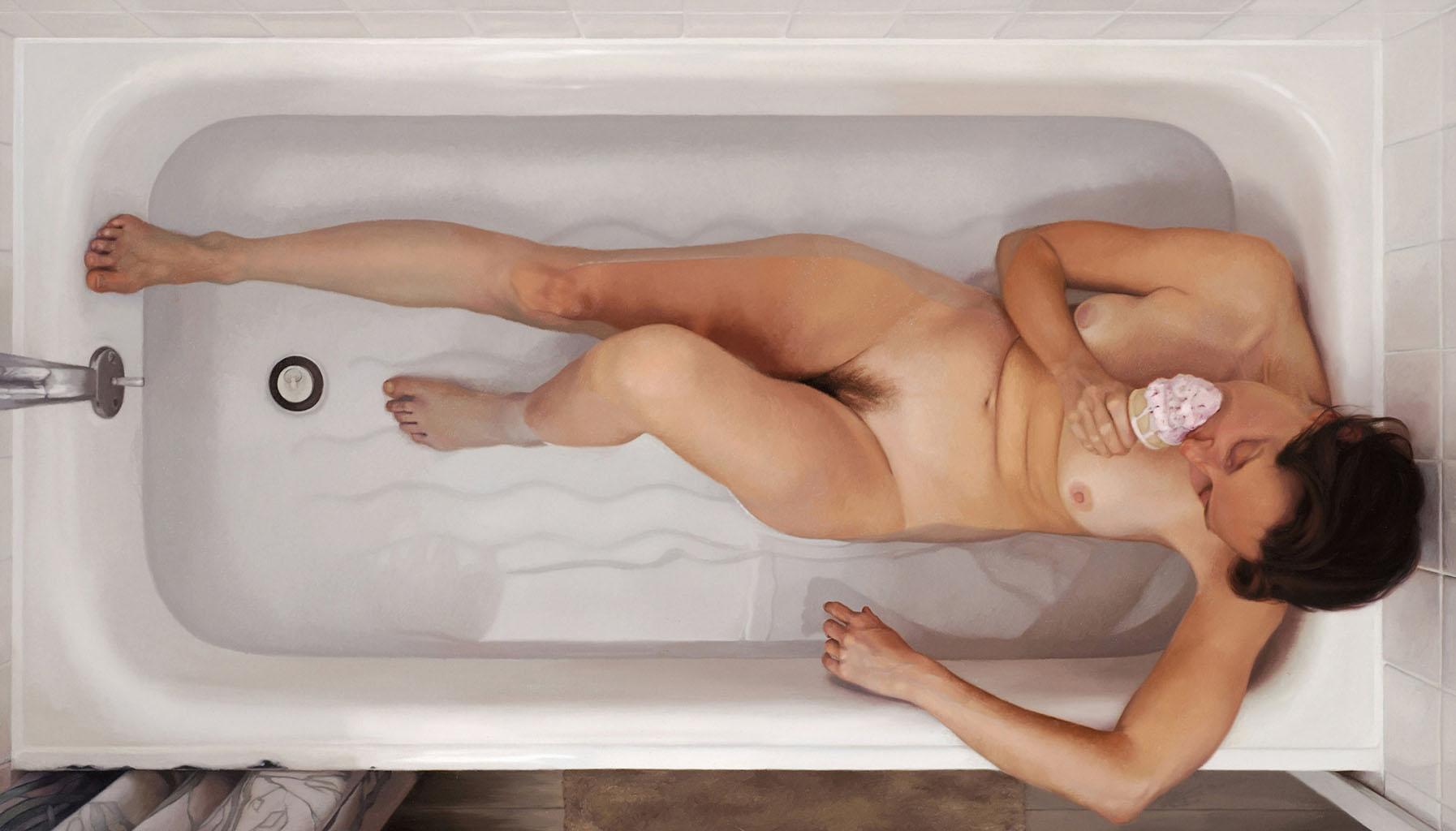 Ли Прайс (Lee Price), Self-Portrait in Tub With Ice Cream Cone