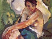 "Лео Путц (Leo Putz) ""Evening Sun, Adelheid"""