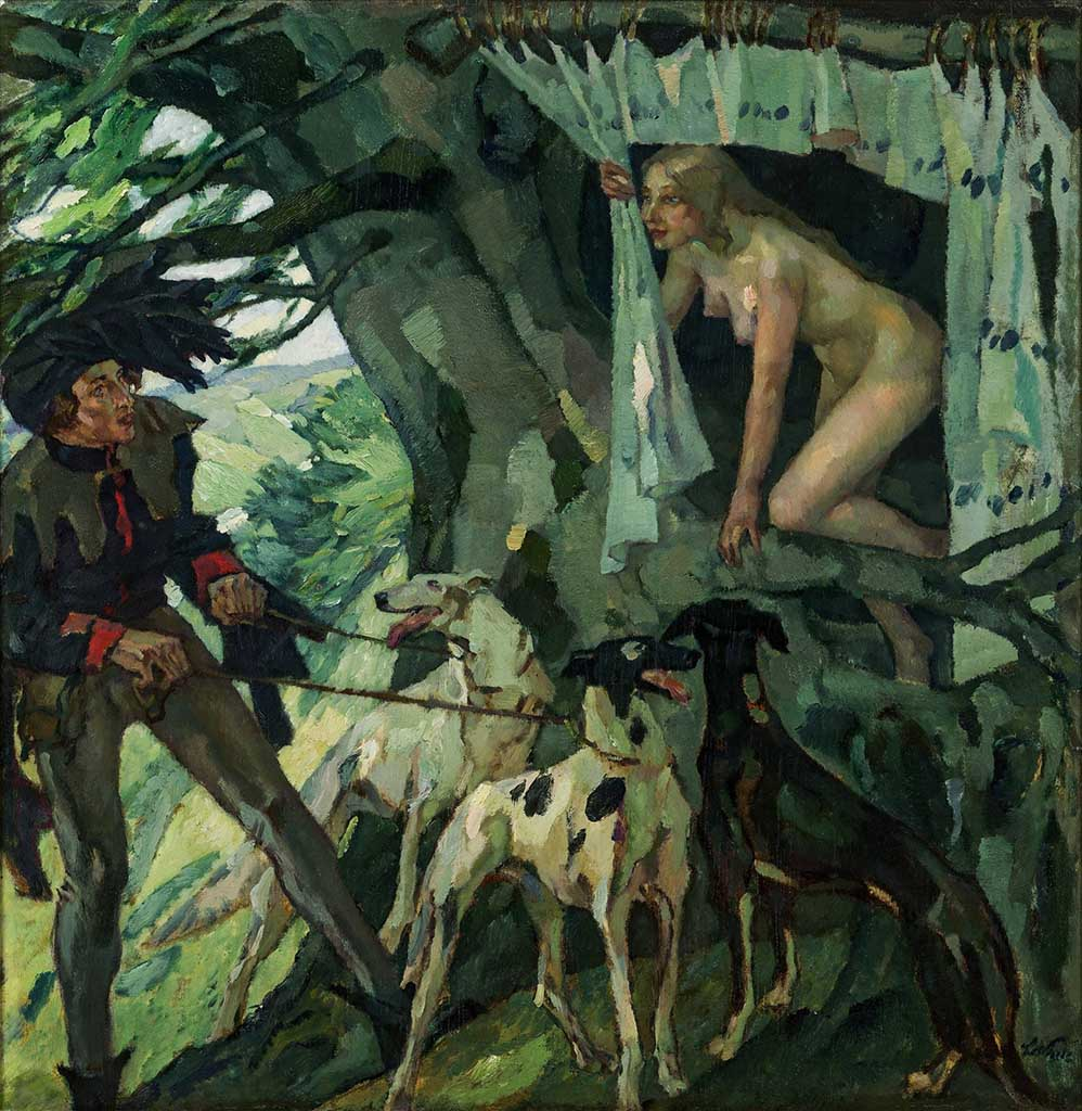 "Лео Путц (Leo Putz) ""Genoveva (Fairytale Princess in a Tree)"""