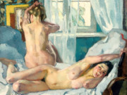 "Лео Путц (Leo Putz) ""Am Morgen"""