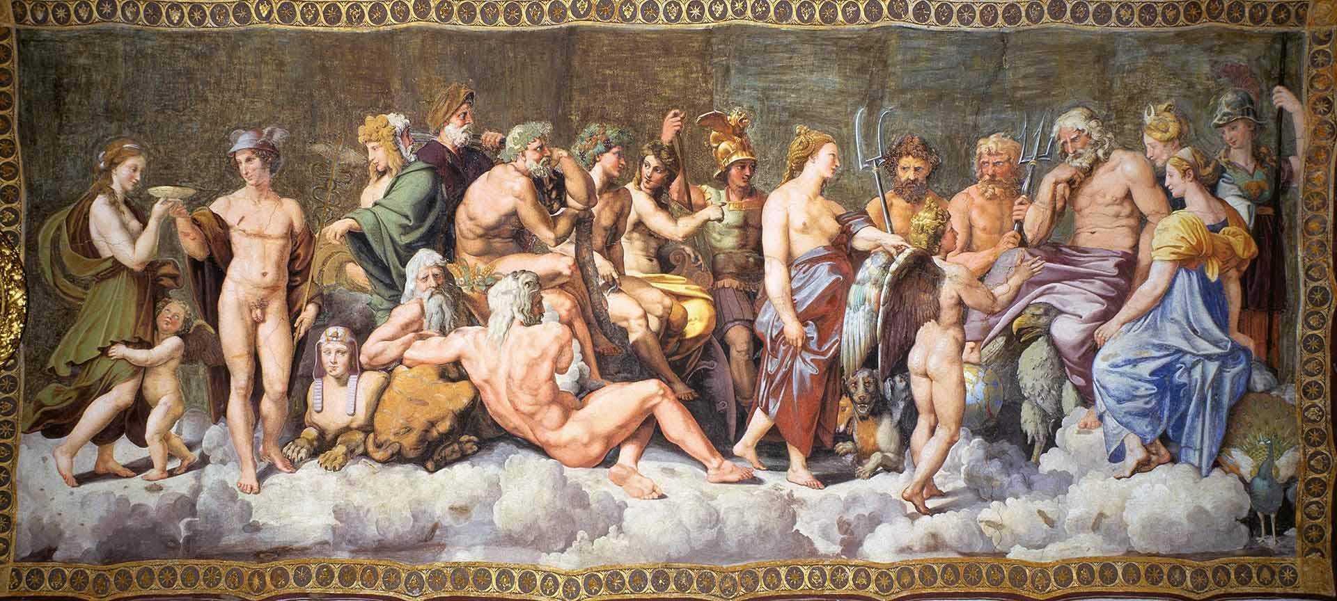 """Рафаэль Санти (Raphael, Raffaello Santi) """"Совет богов """""""
