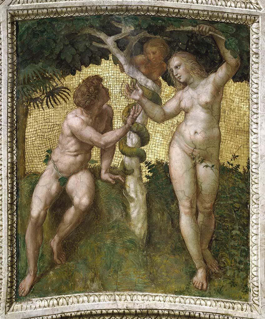 "Рафаэль Санти (Raphael, Raffaello Santi) ""Адам и Ева """