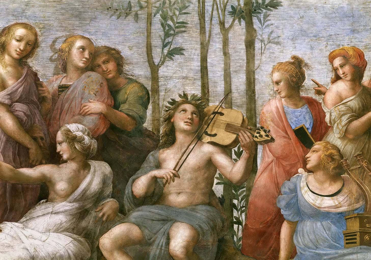 """Рафаэль Санти (Raphael, Raffaello Santi) """"Парнас (фрагмент фрески)"""""""