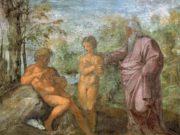 """Рафаэль Санти (Raphael, Raffaello Santi) """"Сотворение Евы из ребра Адама (Фреска)"""""""