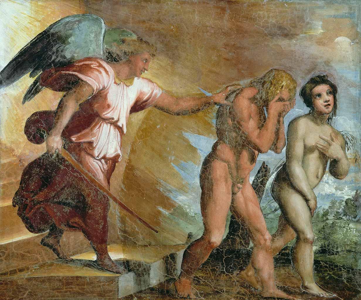 """Рафаэль Санти (Raphael, Raffaello Santi) """"Изгнание из рая (Фреска)"""""""