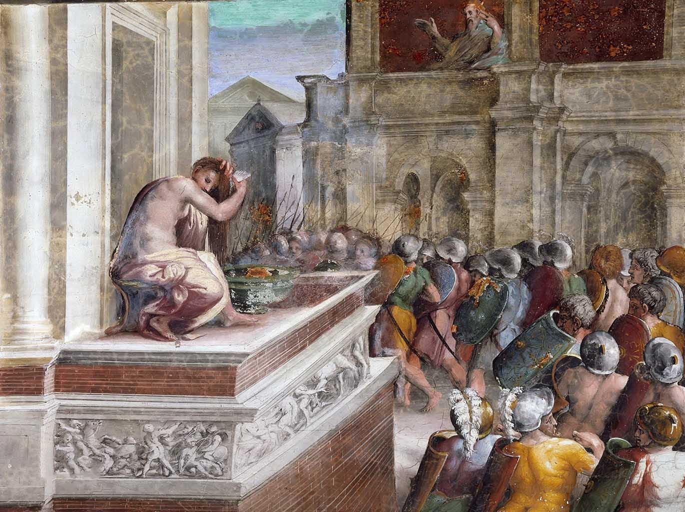 """Рафаэль Санти (Raphael, Raffaello Santi) """"Давид и Вирсавия (Фреска)"""""""