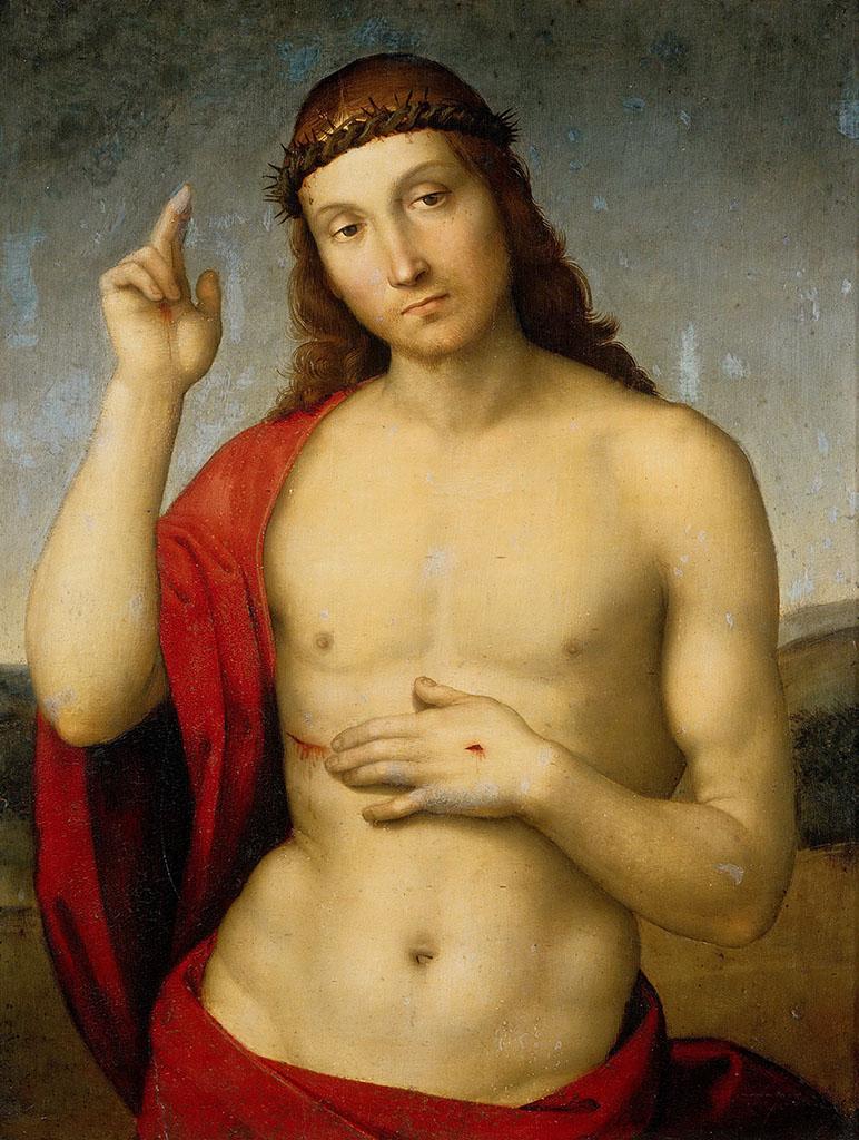 """Рафаэль Санти (Raphael, Raffaello Santi) """"Благословляющий Христос"""""""