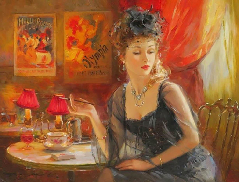 "Константин Разумов (Konstantin Razumov), ""Дама с сигаретой"""