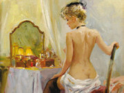 "Константин Разумов (Konstantin Razumov), ""Devant le miroir"""