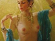 """Константин Разумов (Konstantin Razumov), """"Portrait d'une jeune orientale"""""""