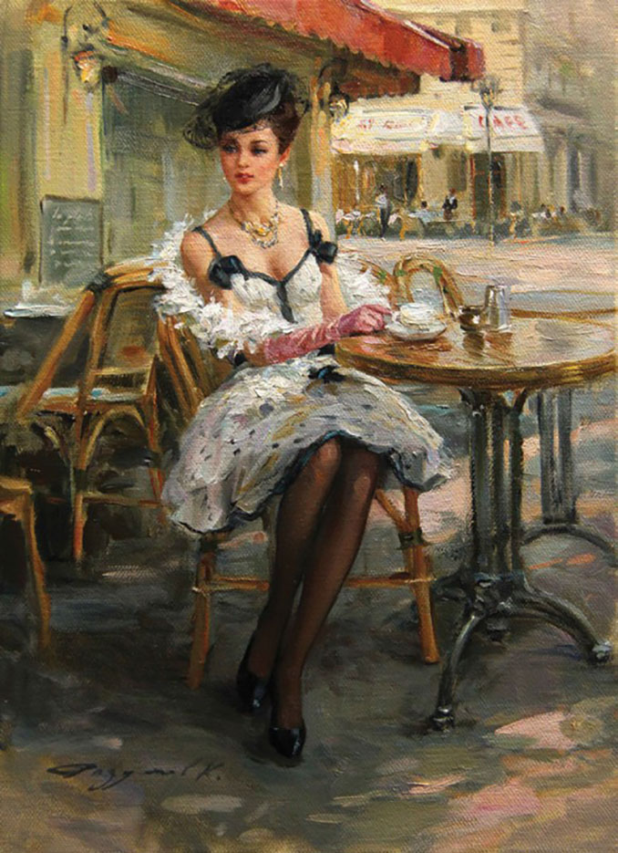 "Константин Разумов (Konstantin Razumov), ""Une parisienne"""