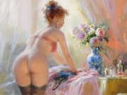 "Константин Разумов (Konstantin Razumov), ""Young Lady in her Boudoir"""