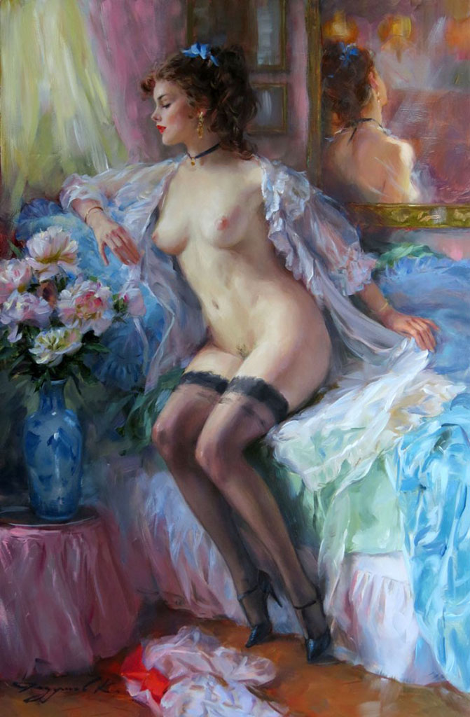 "Константин Разумов (Konstantin Razumov), ""Nude in the morning"""