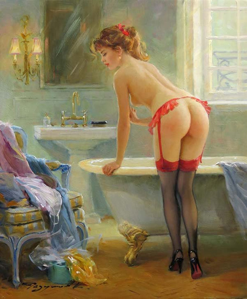 "Константин Разумов (Konstantin Razumov), ""In the bath room"""