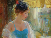 """Константин Разумов (Konstantin Razumov), """"В кафе, Париж"""""""
