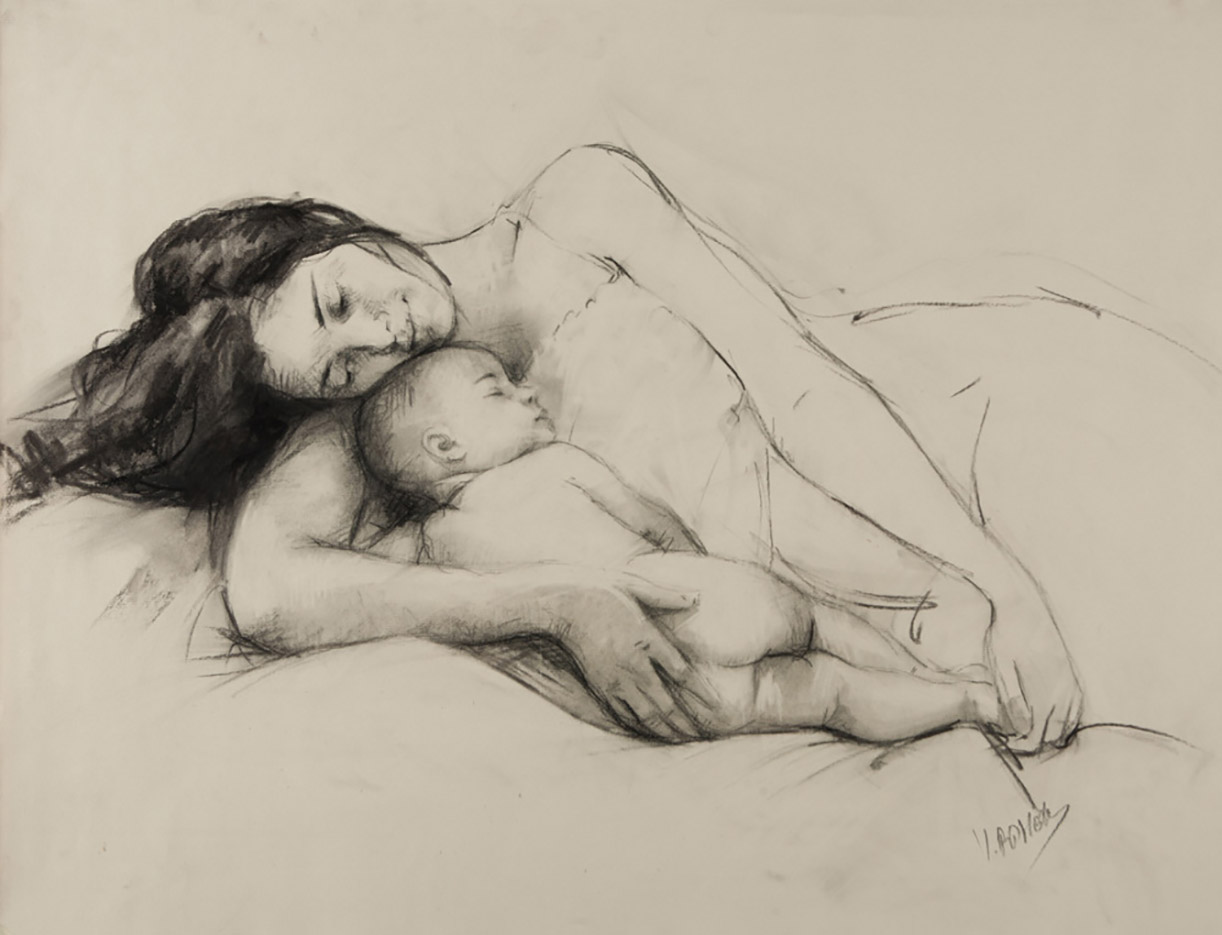 "Висенте Ромеро Редондо (Vicente Romero Redondo), ""Erotic drawing - 10"""