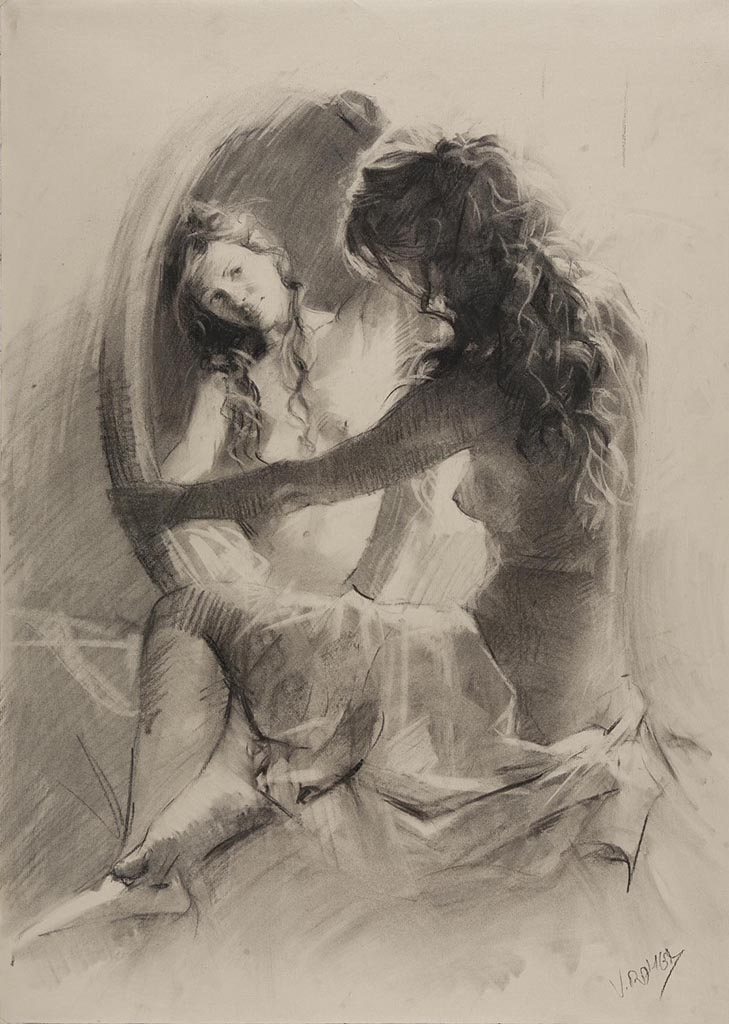 "Висенте Ромеро Редондо (Vicente Romero Redondo), ""Erotic drawing - 11"""
