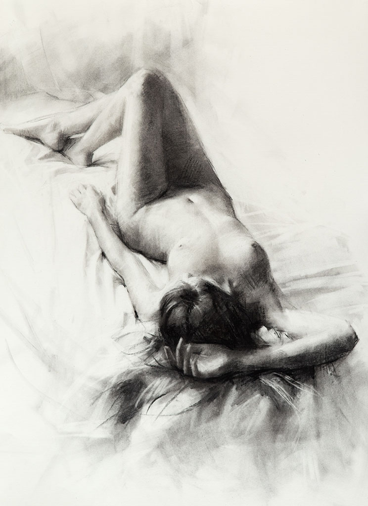 "Висенте Ромеро Редондо (Vicente Romero Redondo), ""Erotic drawing - 15"""