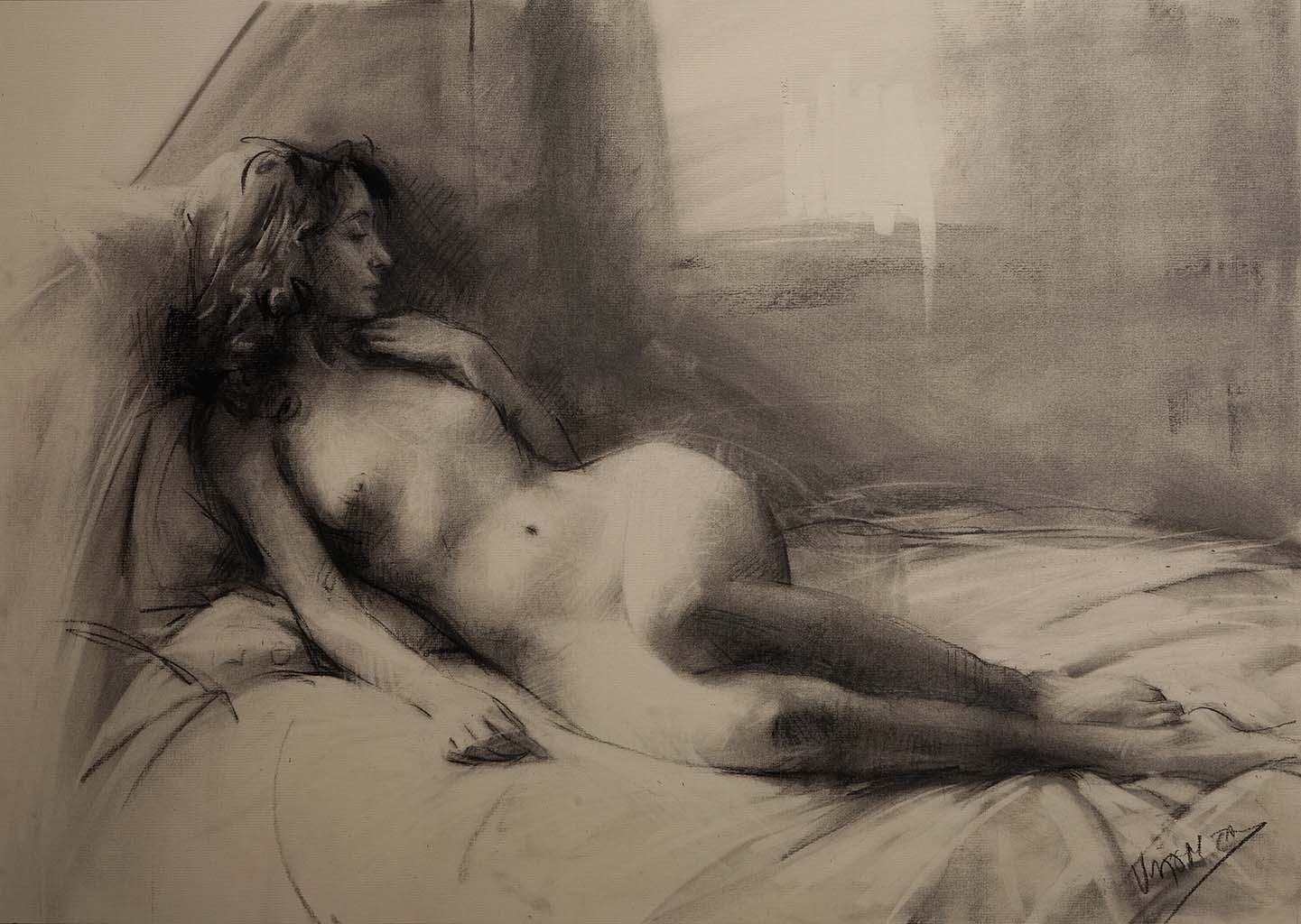 "Висенте Ромеро Редондо (Vicente Romero Redondo), ""Erotic drawing - 4"""