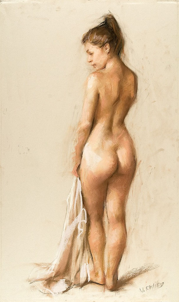 "Висенте Ромеро Редондо (Vicente Romero Redondo), ""Erotic drawing - 7"""
