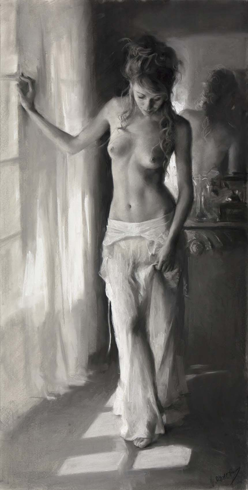 "Висенте Ромеро Редондо (Vicente Romero Redondo), ""Erotic drawing - 8"""