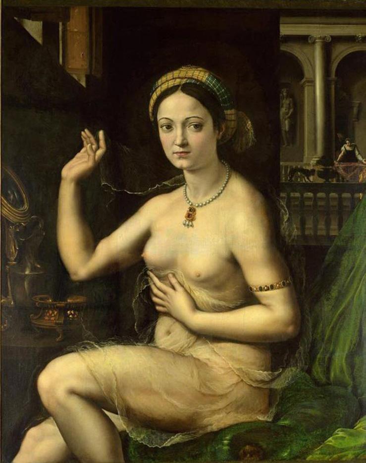 """Джулио Романо (Giulio Romano) """"Дама за туалетом (Форнарина)"""""""
