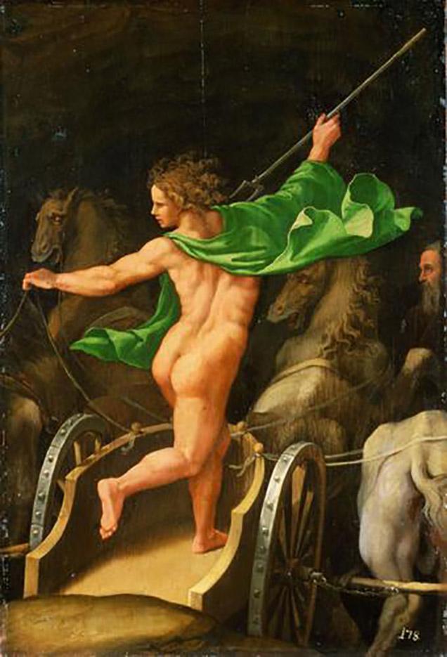"""Джулио Романо (Giulio Romano) """"Pluto in his chariot"""""""