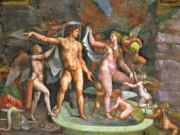 """Джулио Романо (Giulio Romano) """"Купающиеся Марс и Венера, в компании Амуров и Путти"""""""