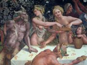"""Джулио Романо (Giulio Romano) """"Две Оры рассеивающие цветы, под наблюдением сатиров"""""""