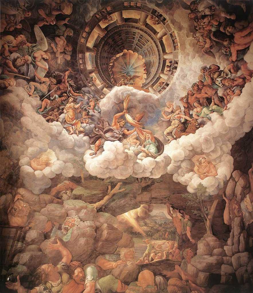 "Джулио Романо (Giulio Romano) ""Падение гигантов | The Fall of the Gigants (Фреска)"""