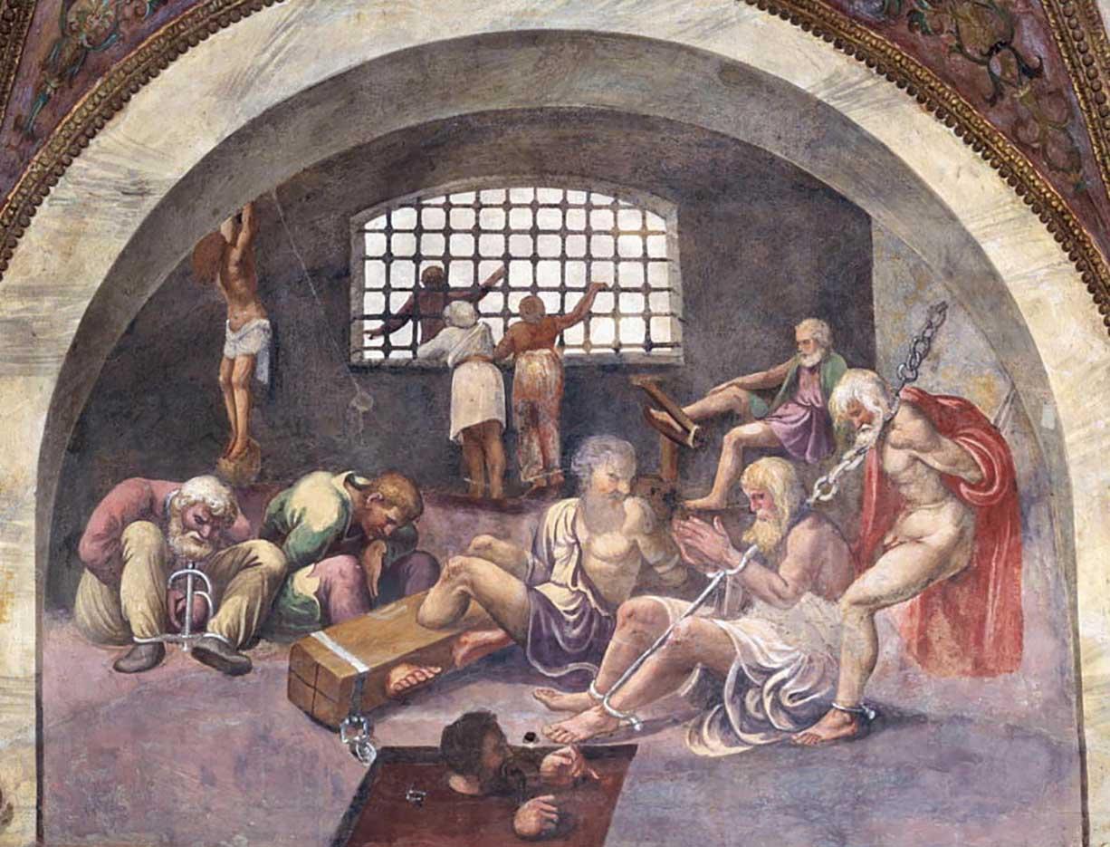 """Джулио Романо (Giulio Romano) """"Сцена, показывающая, что те, кто родился под знаком Стрельца в сочетании с заходящим созвездием Арктура, будет склонны к совершению ..."""""""