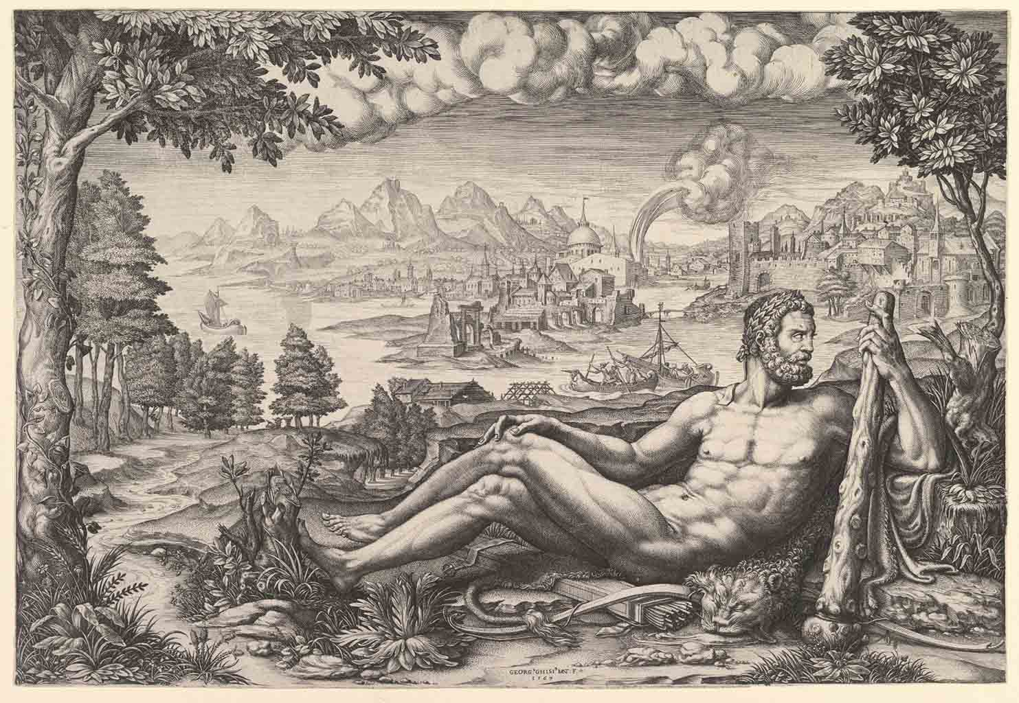"Джулио Романо (Giulio Romano) ""Hercules Resting from His Labors"""