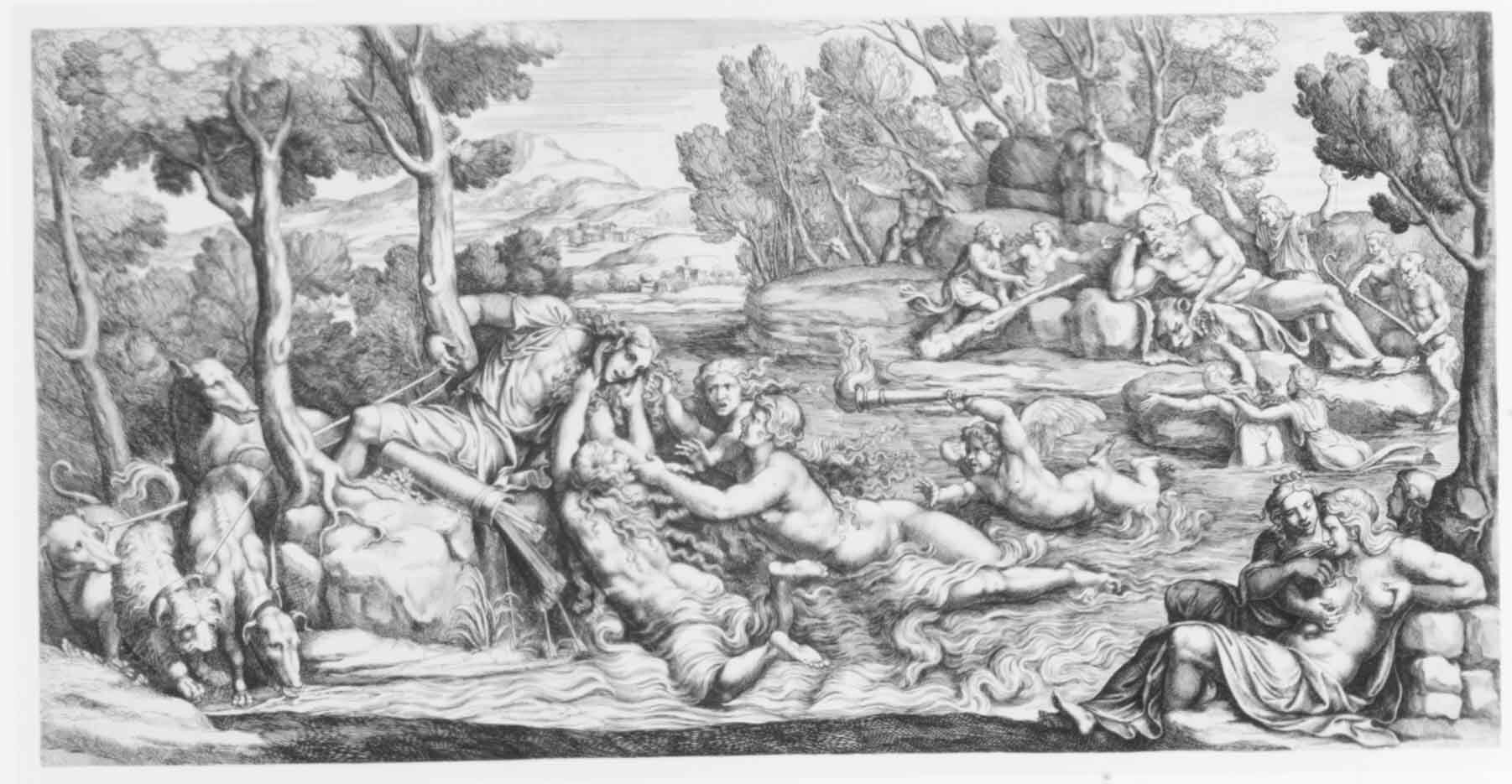 "Джулио Романо (Giulio Romano) ""Hylas and the Water Nymphs"""