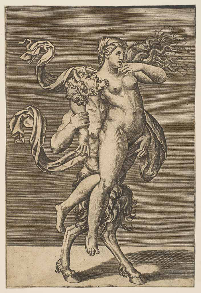 "Джулио Романо (Giulio Romano) ""Satyr carrying a nymph restraining her right arm"""